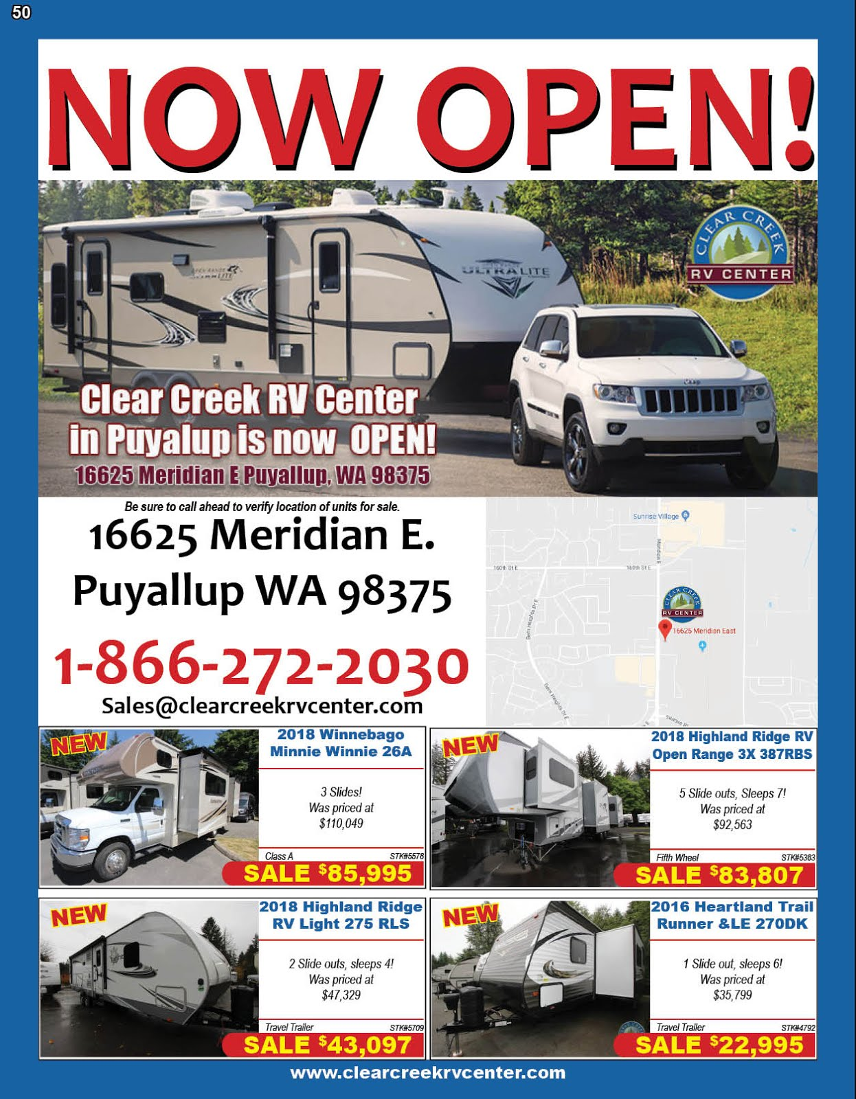 Clear Creek RV Center Opening their New Lot in Puyallup!!
