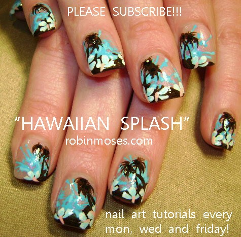 "... design"" ""hibiscus flower design"" ""hibiscus nail art"" ""hawaiian nail"