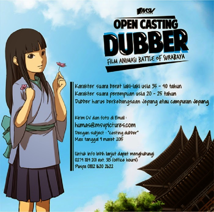 Open Casting Dubber BATTLE OF SURABAYA