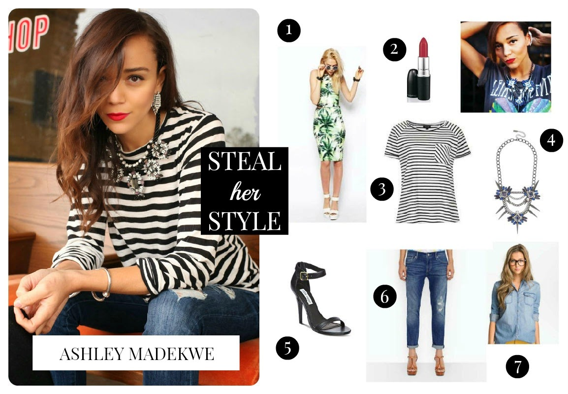 Steal Her Style: Ashley Madekwe via The Twisted Horn