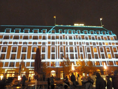 festival of lights, berlin, illumination, 2012, hotel Adlon
