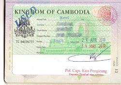 Camboja Visa