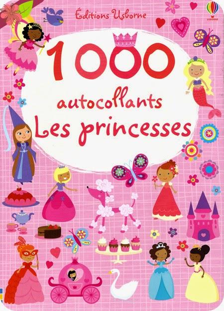 1000 autocollants Les princesses aux éditions Usborne