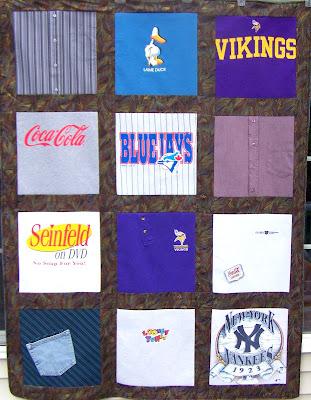 T Shirt Memory Quilt Blanket