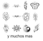 . y variados pinceles de tatuajes para utilizar en adobe Photoshop. pincel tatoo