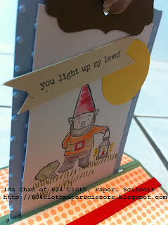 Gnome handmade card by Ida Chan Stampin' Up! Vancouver