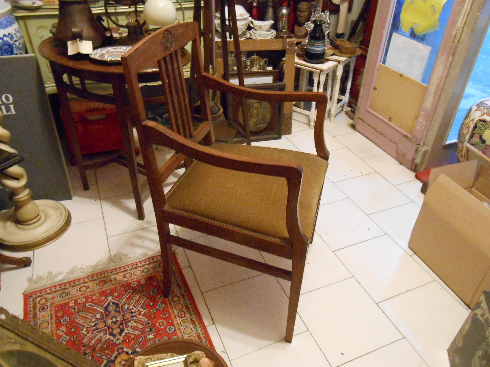 Antico e grande cadregun poltrona sedia trono liberty - Sostituire seduta sedia ...