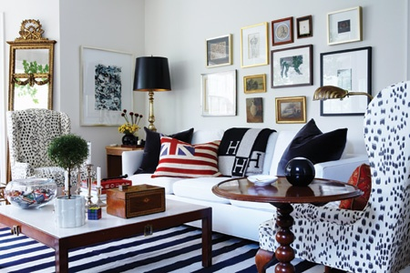 Inspired whims pretty and preppy living room for Preppy home decor