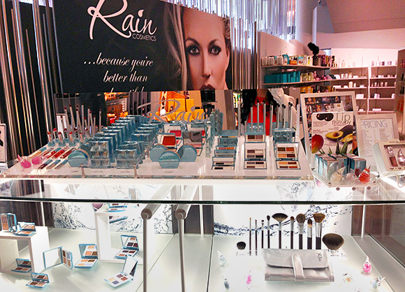 Rain Cosmetics Store Display at Elements @ ARIA, Las Vegas