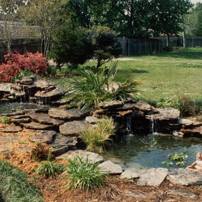 from the pondladys pad pond design ideas - Garden Ideas On Two Levels