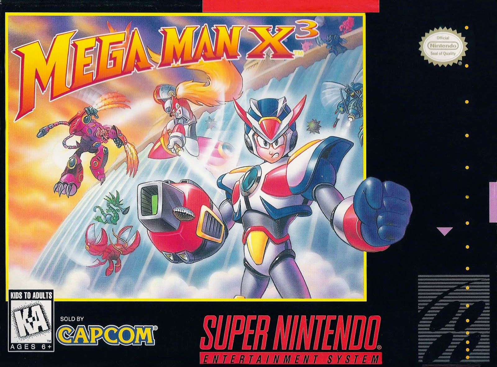 mega man x3 snes cover