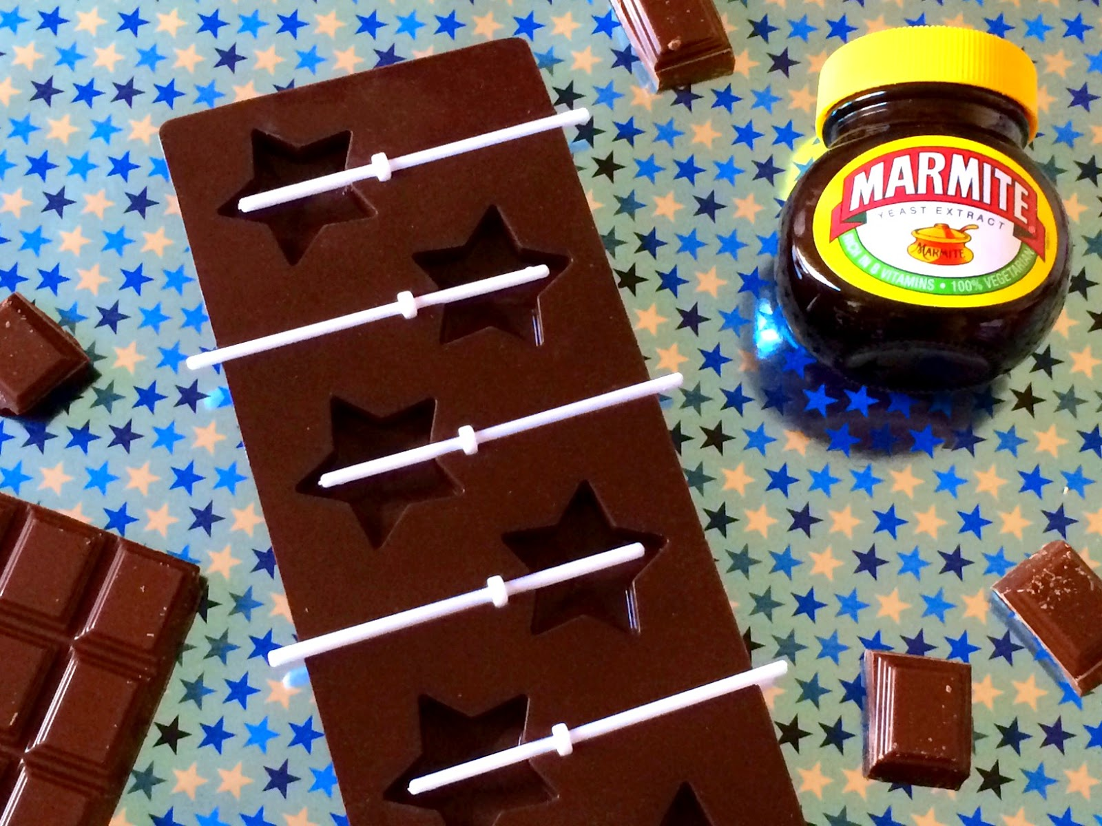 Marmite chocolate lollies recipe