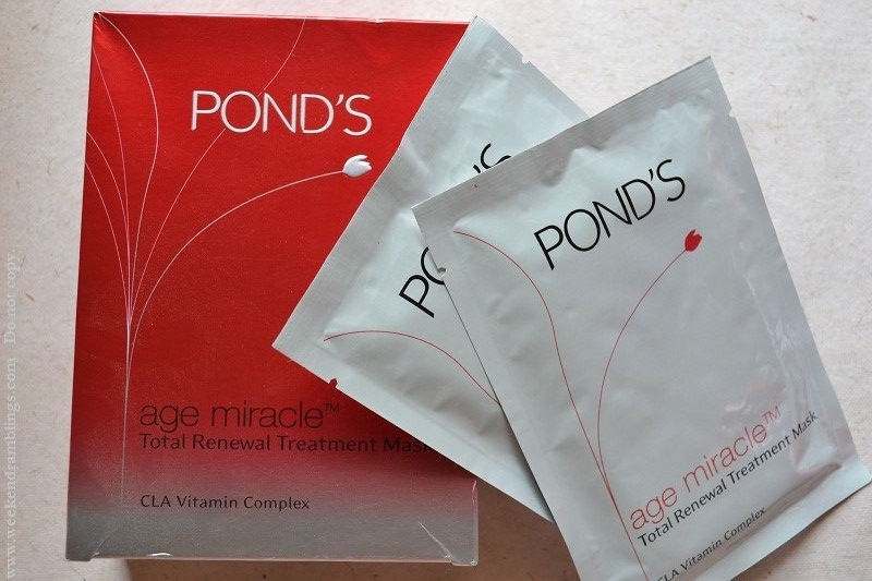 Ponds Age Miracle Total Renewal Treatment Mask Review