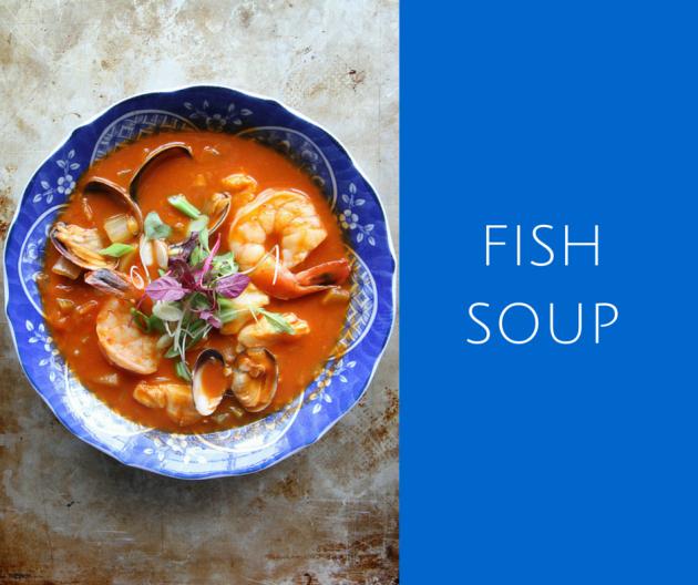 In en om die huis mediterranean fish soup for Fish soup near me