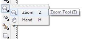 Mengenal Zoom Tool dan Hand Tool Di CorelDraw