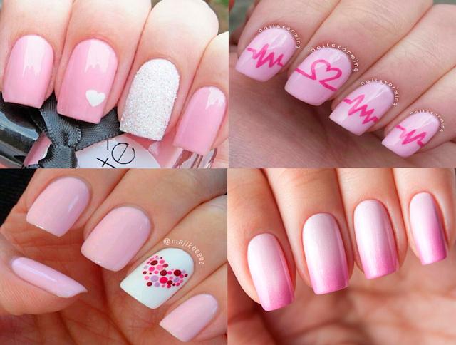 Inspiração, rosa, nail art, unha, esmaltes, claros