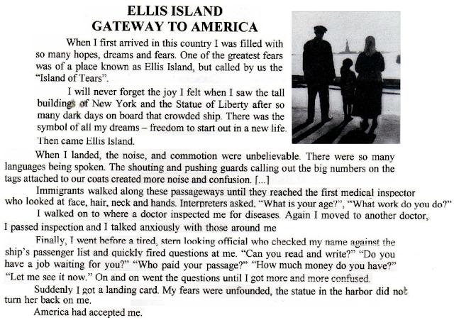 Ellis Island Co Anglais