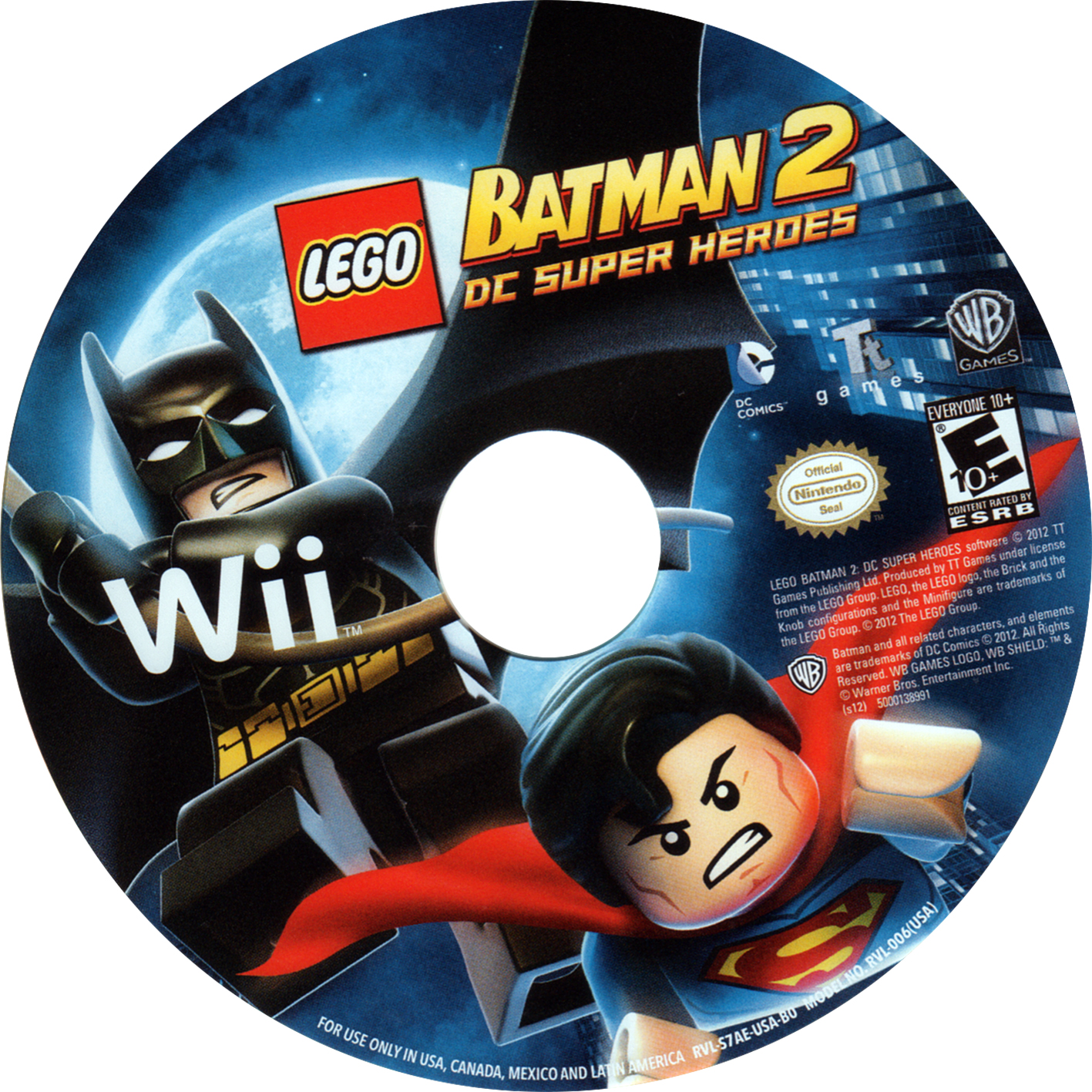 Label lego batman 2 dc super heroes wii