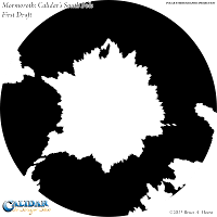 Mormoroth: Calidar's South Pole (First Draft), Polar Stereographic Projection