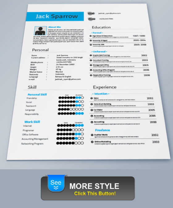 template blue clean indesign resume template identity resume simple ...