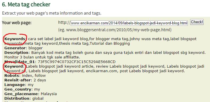 label blogspot meta tag