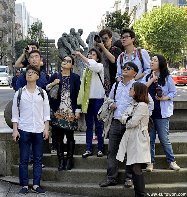 Blogueros coreanos visitando Vigo