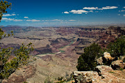 This is a picture of our first view of the Grand Canyon.