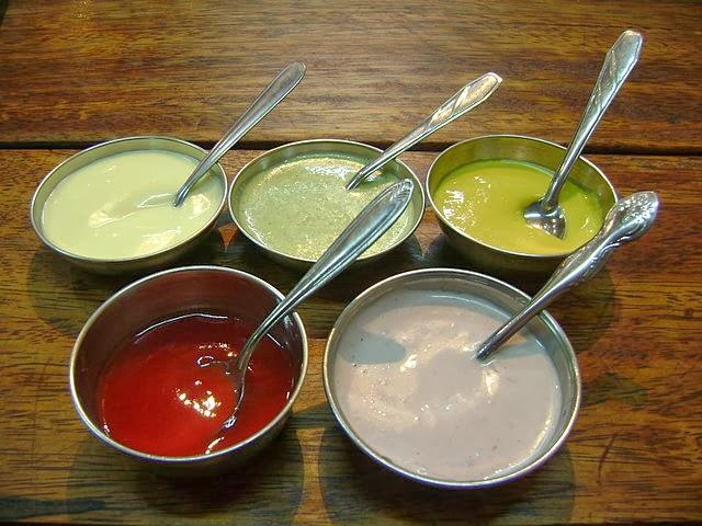 Tabla de calorías- salsas y condimentos