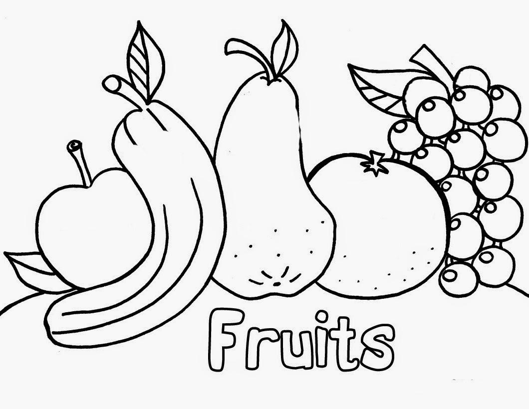 Tranh tô màu cho bé hình hoa quả