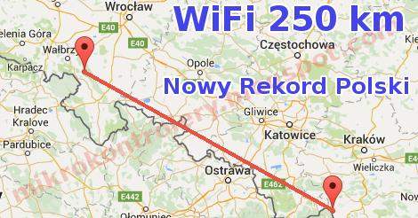 WiFi 250 km  Nowy Rekord Polski 2015