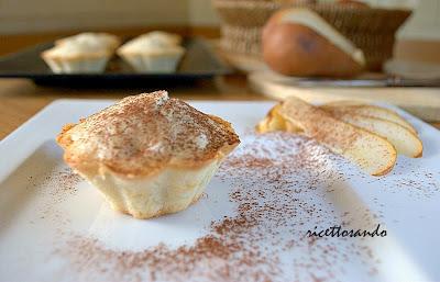 Tortine alle pere per riciclare gli albumi ricetta di leggeri muffins