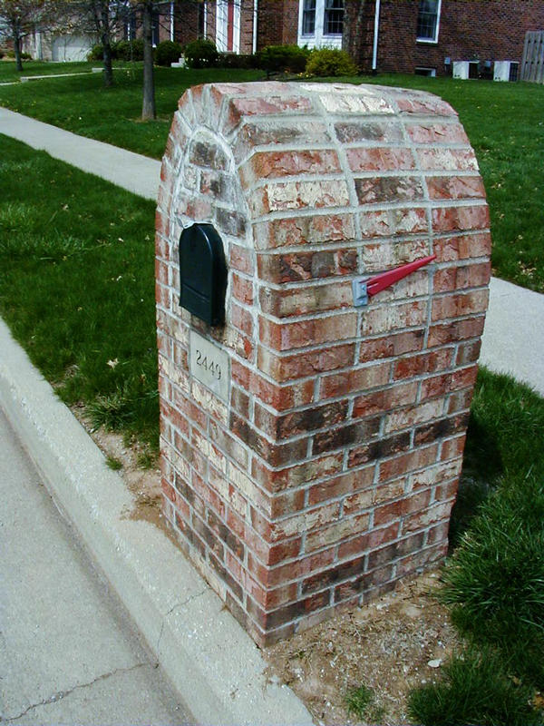 Brick Mailboxes Designs2