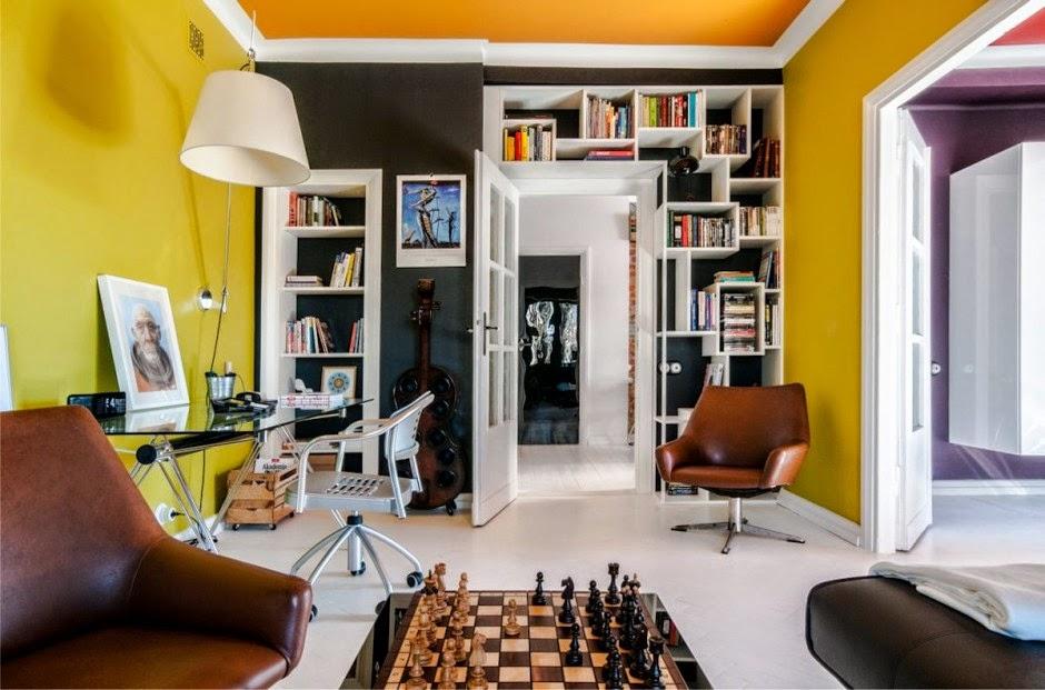 die wohngalerie 70er jahre einrichtung zeitgem aufgeppt in warschau. Black Bedroom Furniture Sets. Home Design Ideas