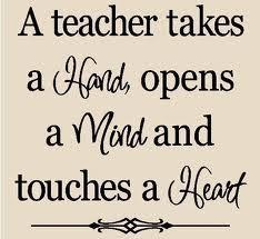 Teachers touch the heart