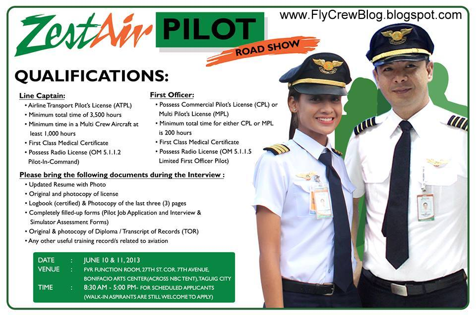 Pilot Recruitment Information: Zest Airways, Inc.