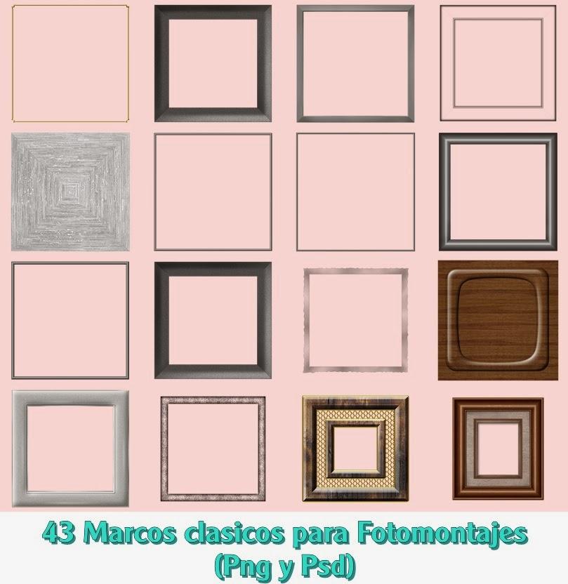 Recursos Photoshop Llanpac: Coleccion de Marcos Clasicos para ...