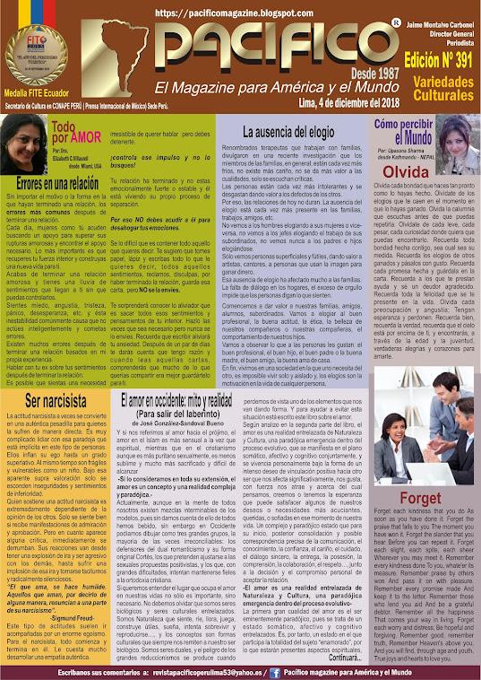 Revista Pacifico N° 391 Variedades Culturales