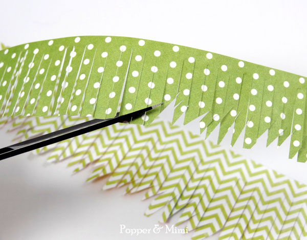 Add texture to fringed paper | popperandmimi.com