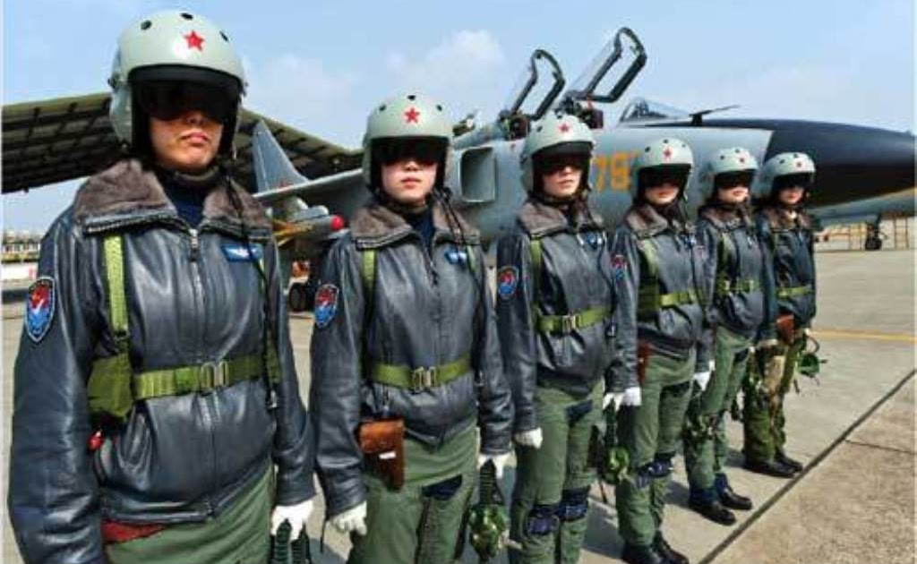Female Fighter Pilot Of The Chinese People S Liberation