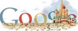 Catedral de San Basilio logo de Google doodle 12 de julio 2011 doodle Google