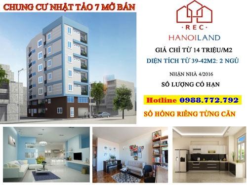 Chung cư giá rẻ Từ Liêm Hanoiland bán chung cư mini Nhật Tảo 7-2