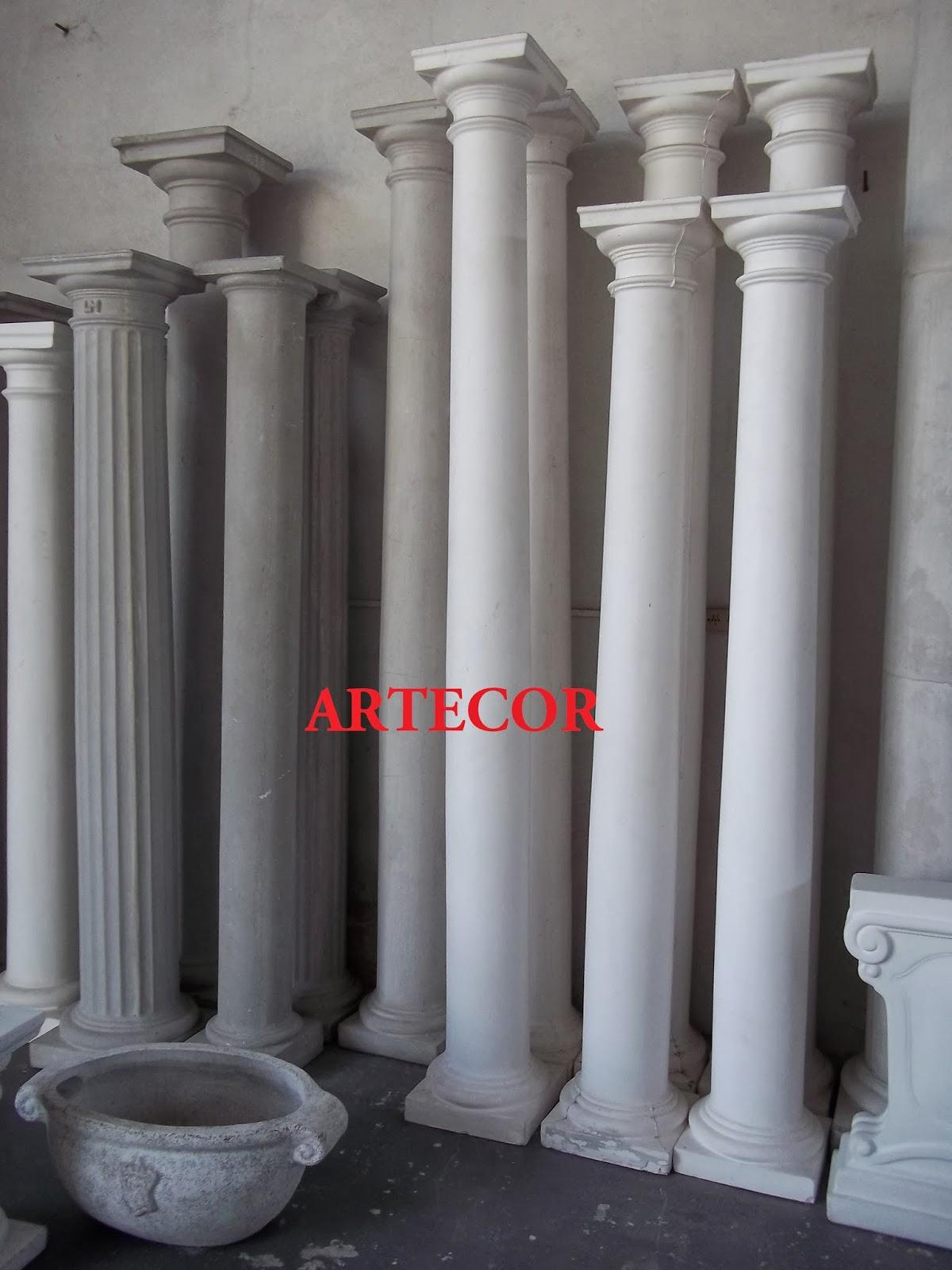 Artecor decoracion pedestales columnas de yeso y cemento - Columnas decoracion interiores ...