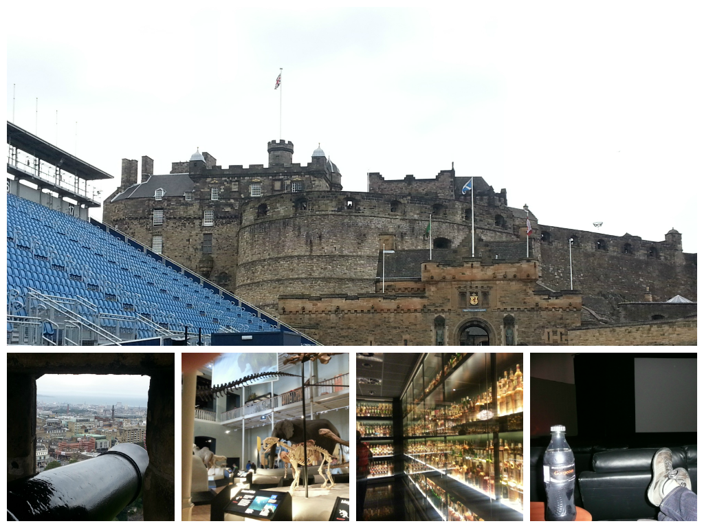 Edinburgh Castle, Whiskey Experience, National Museum of Scotland and Dominion Cinema