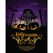 19. Free vector Halloween party template