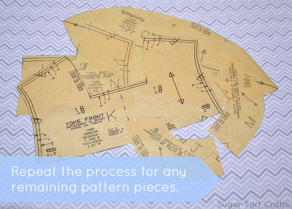 Repeat the process with any remaining pattern pieces.