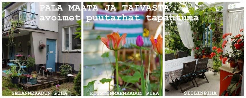 PALA MAATA JA TAIVASTA- kukkia ja taidetta