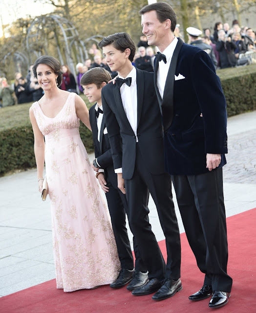 Danish Crown Prince Frederik, Crown Princess Mary, Prince Christian and Princess Isabella, Queen Margrethe of Denmark and Prince Henrik,  Aarhus Mayor Jacob Bundsgaard,