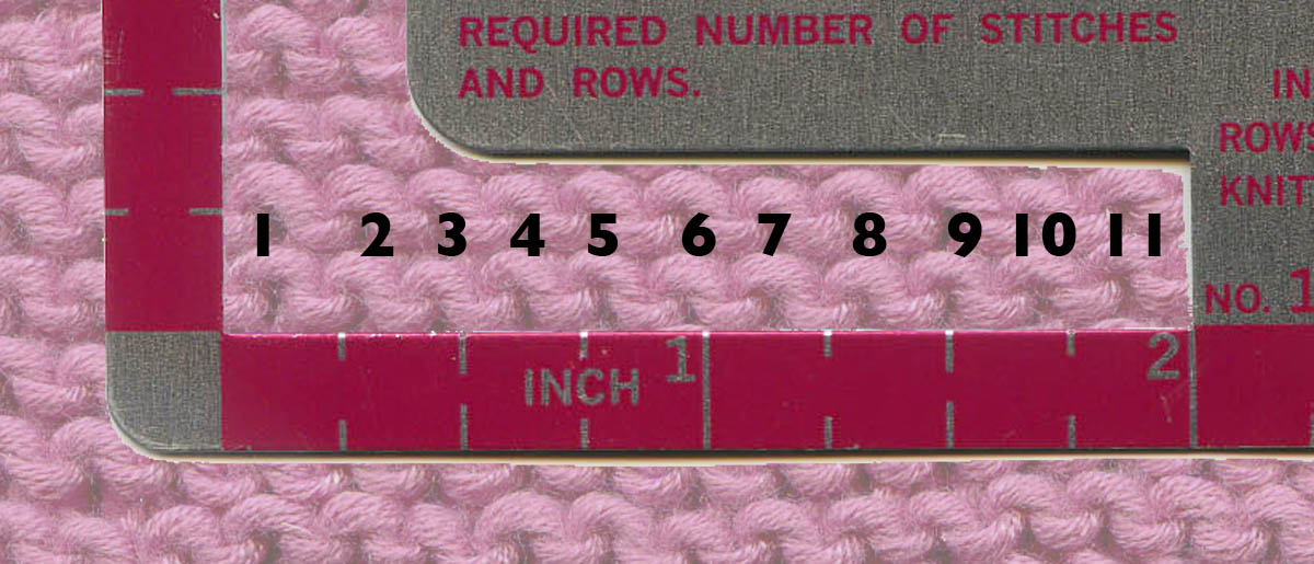 Knitting Number Of Stitches Per Inch : Pinkknit-a-thon: Knitting the Swatch
