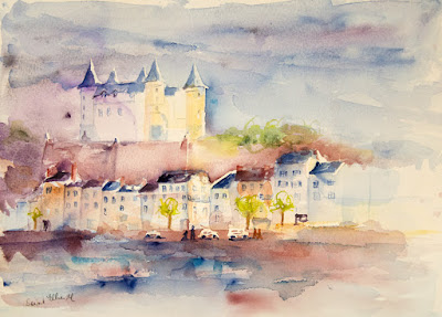 Watercolour Saumur