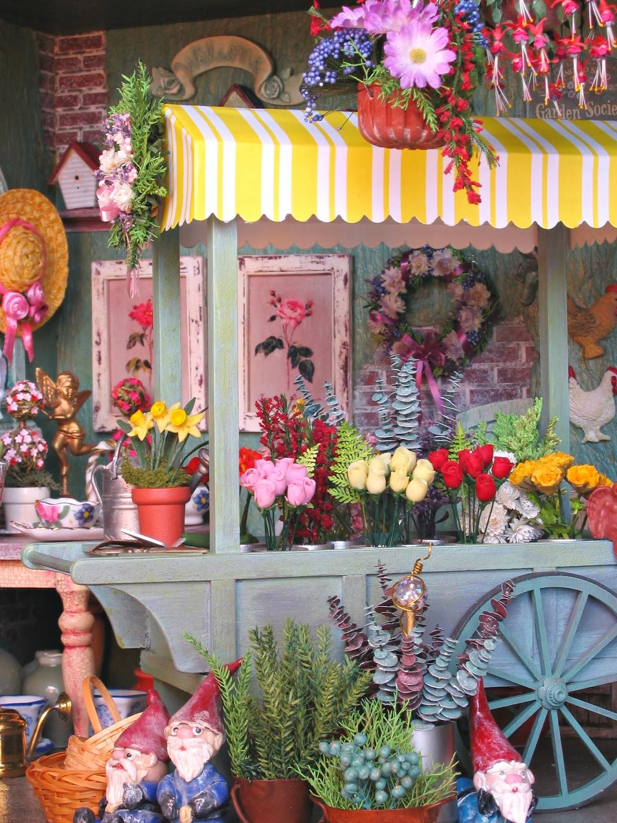 dollhouse flower cart